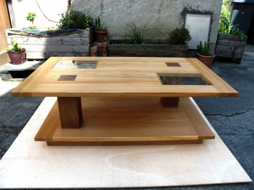Table basse en Merisier et Noyer